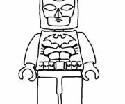 Free coloring and drawings Lego Batman simple Coloring page