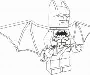 Free coloring and drawings Lego Batman stylized Coloring page