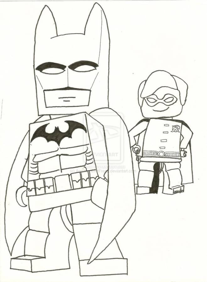 Free coloring and drawings Lego Batman super hero Coloring page