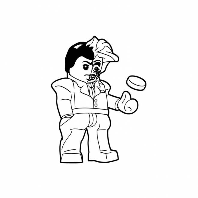 Free coloring and drawings Lego Joker Easy Coloring page
