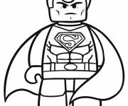 Coloring pages Lego Super Man