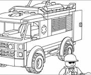 Coloring pages Lego City Ambulance