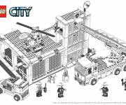 Coloring pages Lego City Building Construction
