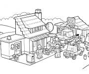 Coloring pages Lego City Characters