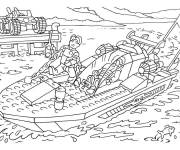 Coloring pages Lego City Fast Ship