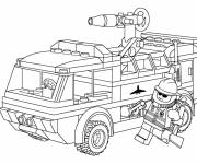 Coloring pages Lego City Fire Truck to print