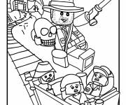 Coloring pages Lego City Indiana Jones