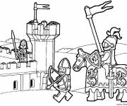 Coloring pages Lego City Medieval War