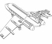 Coloring pages Lego City Plane
