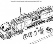 Coloring pages Lego City Police