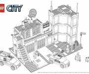 Coloring pages Lego City Police Department