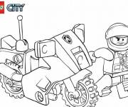 Coloring pages Lego City Police Motorcycle in color
