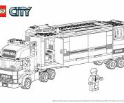 Coloring pages Lego City Police Truck
