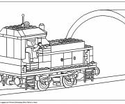 Coloring pages Lego City Train