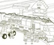 Coloring pages Lego City Train Rapid