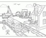 Coloring pages Lego City Train Station