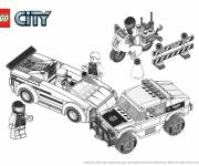 Coloring pages Lego City vehicles for children