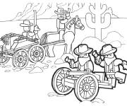 Coloring pages Lego City Western