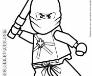 Coloring pages Lego Ninjago Kai in combat