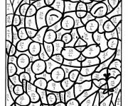 Coloring pages Addition magic cat