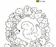 Coloring pages Addition The magic animals