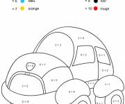 Free coloring and drawings Magic car addition Coloring page
