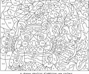 Free coloring and drawings Magic Difficult addition Coloring page