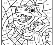 Free coloring and drawings Magical Addition The Little Dinosaur Coloring page