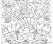 Coloring pages Magic Letters Flowers