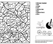 Coloring pages Magic Letters for children
