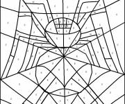 Coloring pages Magic Letters Spider in color