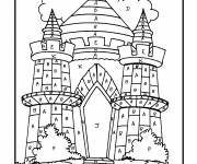 Coloring pages Magic Letters The Palace