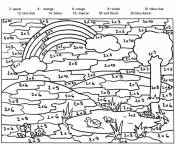 Coloring pages Addition the nature
