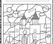 Coloring pages Magic Easy Castle