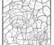 Coloring pages Magic Numbers in Black