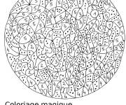 Coloring pages Magic Numeration for children