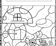 Coloring pages Magic Snail Numbering