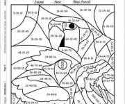 Coloring pages the Parrot magic addition