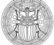 Coloring pages Insect mandala