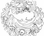 Coloring pages Whale Mandala