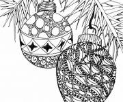 Coloring pages Adult Christmas Balls