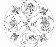Free coloring and drawings Christmas ball and Angels Coloring page