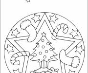 Free coloring and drawings Christmas Mandala Coloring page