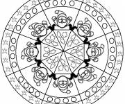 Free coloring and drawings Christmas Mandala for children Coloring page