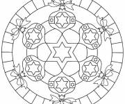 Free coloring and drawings Christmas Mandala for Decoration Coloring page