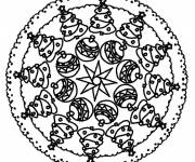 Free coloring and drawings Christmas Mandala free Coloring page
