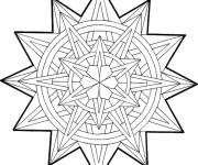 Free coloring and drawings Christmas Mandala in vector Coloring page