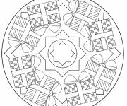 Free coloring and drawings Christmas Mandala online Coloring page