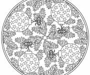 Free coloring and drawings Christmas Mandala to download Coloring page