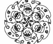 Free coloring and drawings Mandala christmas to complete Coloring page